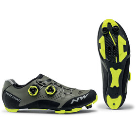 Northwave Ghost XCM 2 Schoenen Heren, forest/yellow fluo